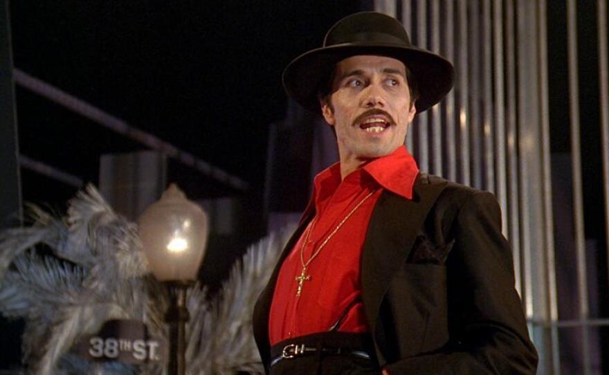 "Edward James Olmos starred as El Pachuco in Luis Valdez' 1981 film adaptation of his play ""Zoot Suit."""