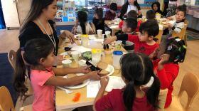 Preschool students at the Jeff and Deni Jacobs Child Development Center, Jan. 13, 2020.