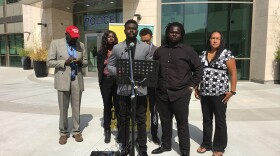 Tony Abuka speaks on the two year anniversary of the fatal shooting of his brother Alfred Olango outside the El Cajon Police Department on Wednesday, September 26, 2018.
