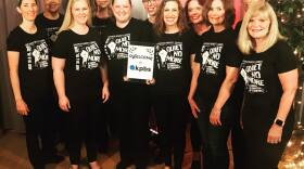 San Diego Women's Chorus artistic director Kathleen Hansen (far left) and some of the singers who came by the KPBS performance studio. May 13, 2019