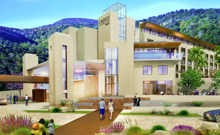 An artist's rendering of the redesigned Morris Cerullo Legacy Center is seen in this undated photo.
