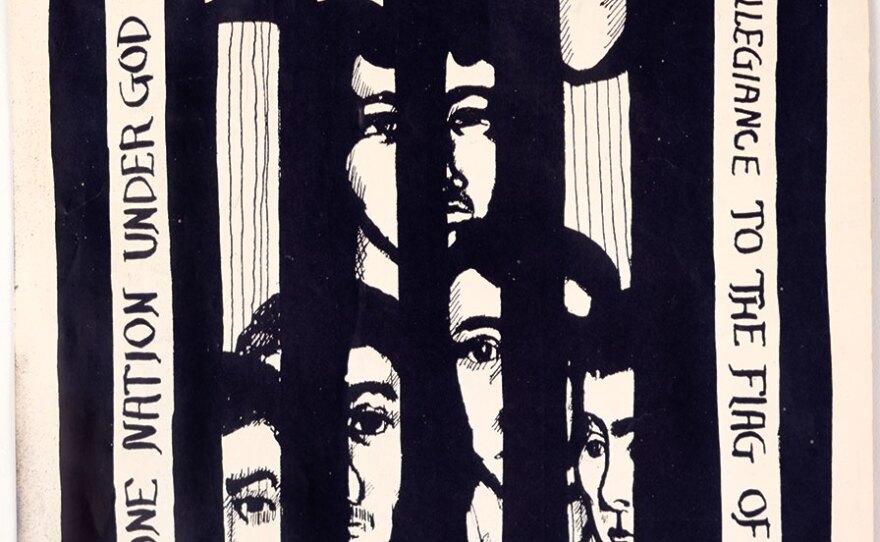 "Yolanda López's ""Free Los Siete,"" (1969), printed in ¡Basta Ya!"