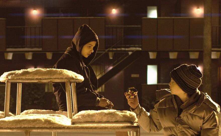"""Chloe Grace Moretz and Kodi Smit-McPhee in """"Let Me In."""""""