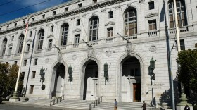 In this Nov. 2, 2018, file photo, people walk past the Earl Warren Building that houses the California Supreme Court in San Francisco.