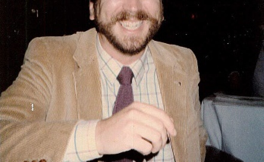 Cunningham attending one of the West Coast's oldest LGBT community awards, The Nicky Awards, in the early 1990s.