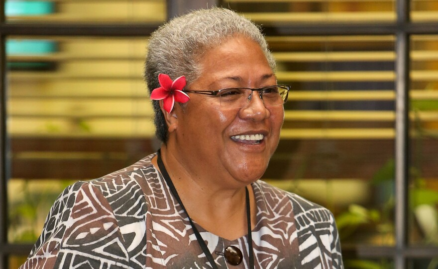 A court ruling has ended a months-long political crisis, allowing Fiame Naomi Mata'afa (shown here in 2013) to become the first woman to lead Samoa.