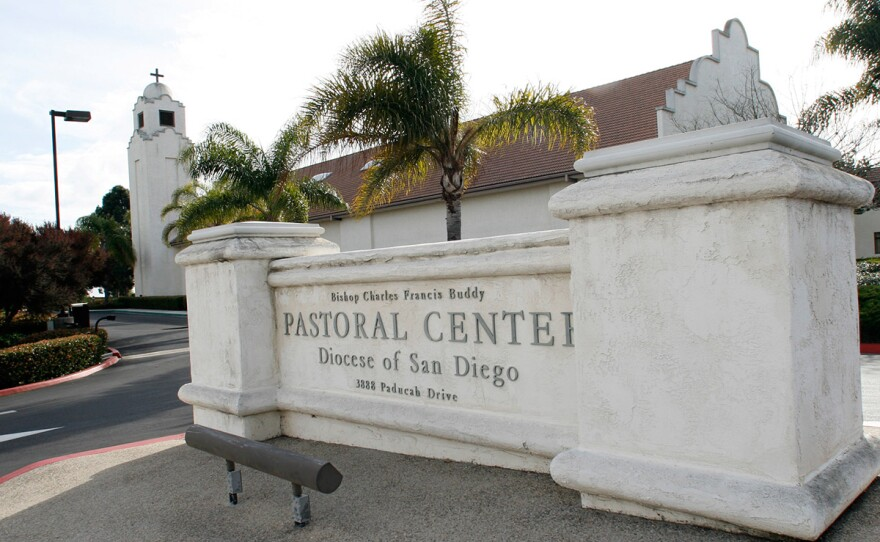 The San Diego Diocesan Pastoral Center, headquarters for the Roman Catholic Church in the San Diego Diocese is shown Tuesday, February 27, 2007.