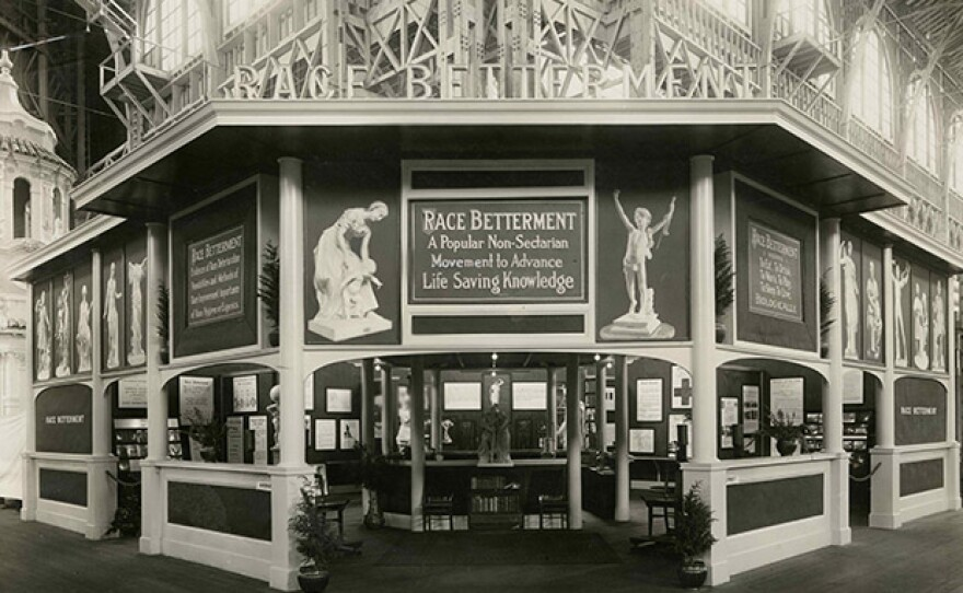 Advancement of health exhibit at the Panama-Pacific International Exposition, 1915.