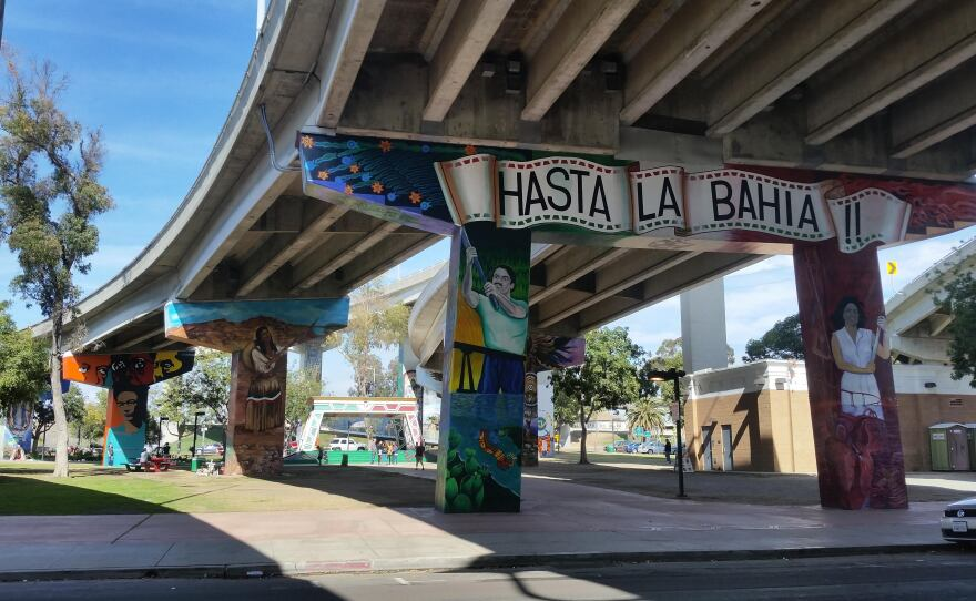 The murals of Chicano Park in Barrio Logan are pictured in this photo from March 11, 2018.