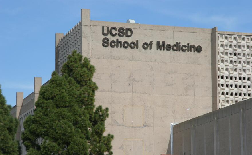 The UC San Diego School of Medicine building shown in this undated picture.