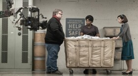 """Director Guillermo del Toro getting diversity on screen and off with """"Shape of Water,"""" which garnered 13 Academy Award nominations on Tuesday, Jan. 23. Here he directs actresses Octavia Spencer and Sally Hawkins."""