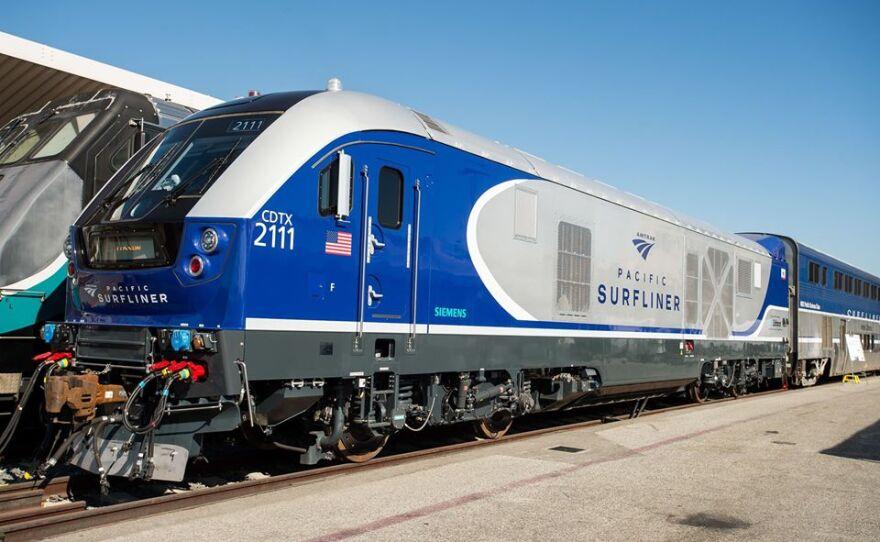 Pacific Surfliner locomotive in an undated photo.