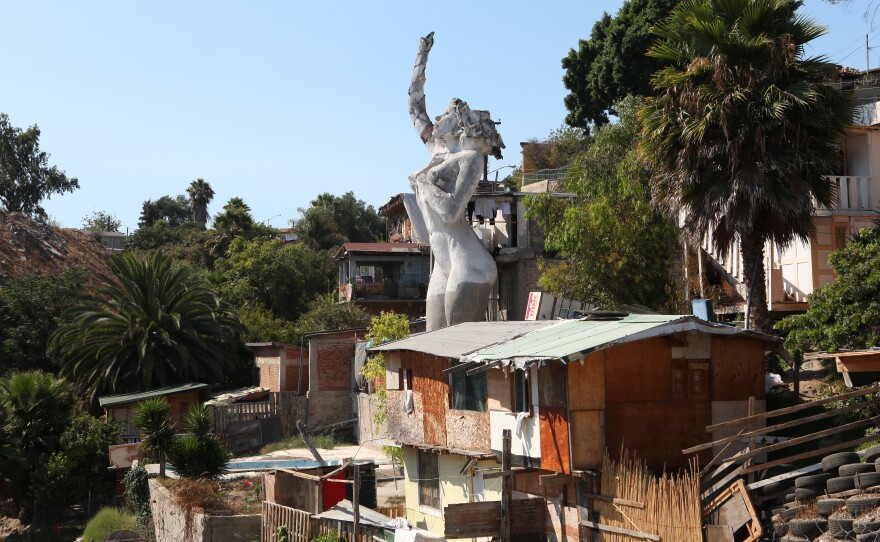 Muñoz built La Mona to honor the centennial of his birthplace, Tijuana, Mexico.