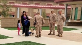 Carlos Cruz and family on the day he retired from the Marine Corps