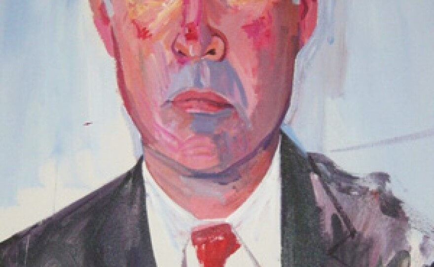Don Bachardy's portrait of Jerry Brown is the official gubernatorial portrait.