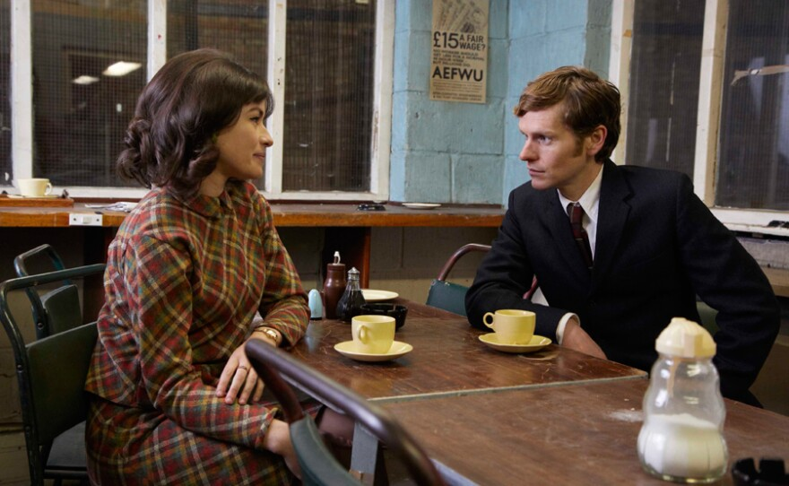 Maimie McCoy as Alice and Shaun Evans as Endeavour.