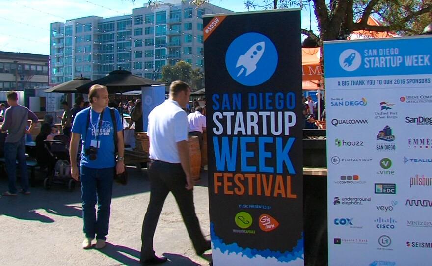 San Diego Startup Week attendees at Quartyard in downtown San Diego, June 2016.