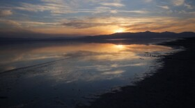 Sunrise at the Salton Sea in Imperial County on April 15, 2015.