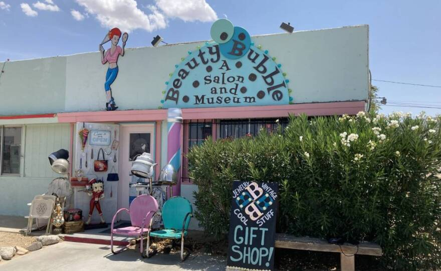 The Beauty Bubble Salon and Museum on Highway 62 in Joshua Tree in an undated photo.