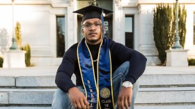 Aaron Harvey poses on the UC Berkeley campus after his graduation in this undated photo.