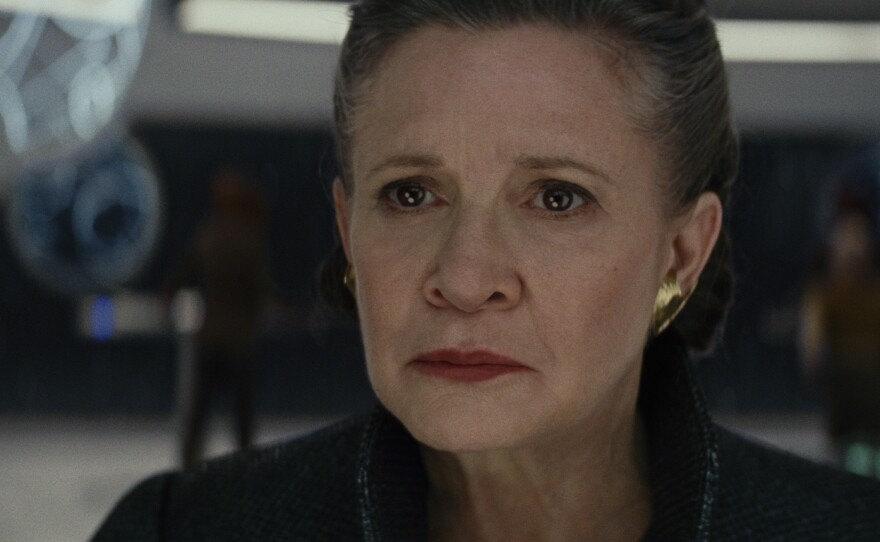 """Carrie Fisher returns as General Leia Organa in """"Star Wars: The Last Jedi."""""""