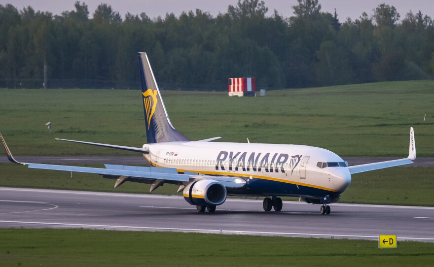 A Ryanair jet that carried opposition figure Roman Protasevich was diverted to Minsk, Belarus, after a bomb threat. Protasevich, who ran a channel on a messaging app used to organize demonstrations against authoritarian President Alexander Lukashenko, was arrested after the plane landed.