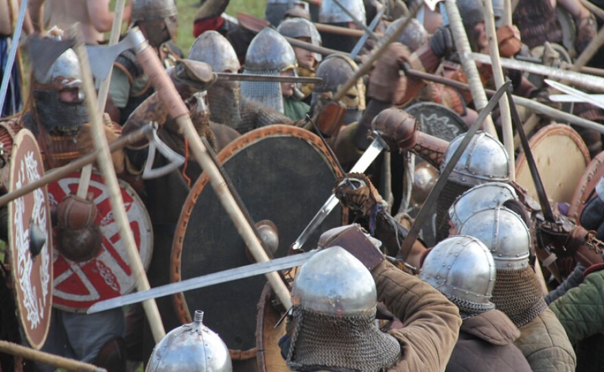 """Each year, hundreds of Viking reenactors meet for the """"Big Battle"""" at the Viking Festival in Wolin, Poland. The Vikings are supposed to be some of the fiercest fighters in history."""