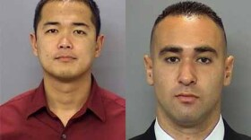 Undated photos of San Diego police Officers Jonathan De Guzman and Wade Irwin.