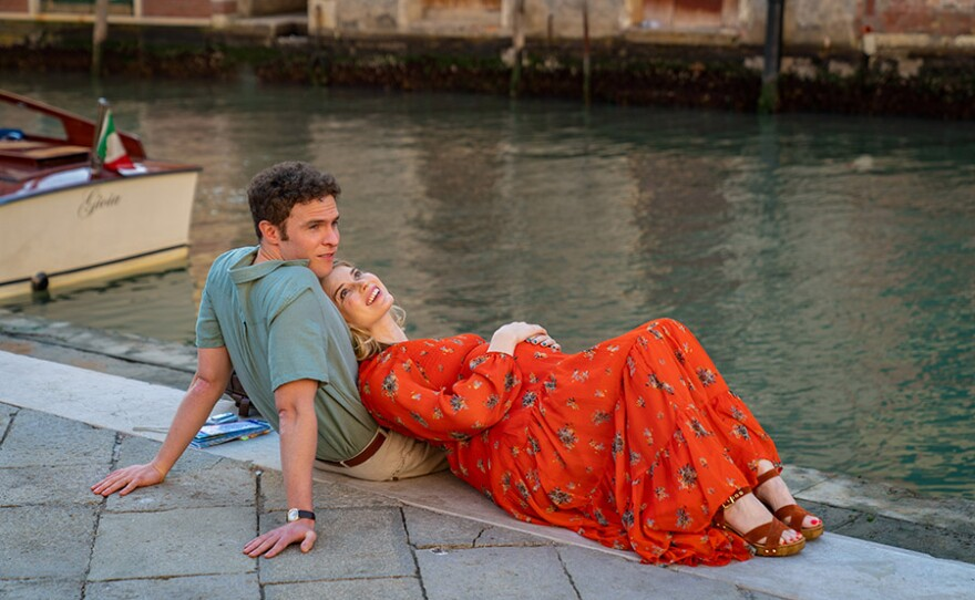 Iain De Caestecker as Younger Douglas and Gina Bramhill as Younger Connie in US On MASTERPIECE.