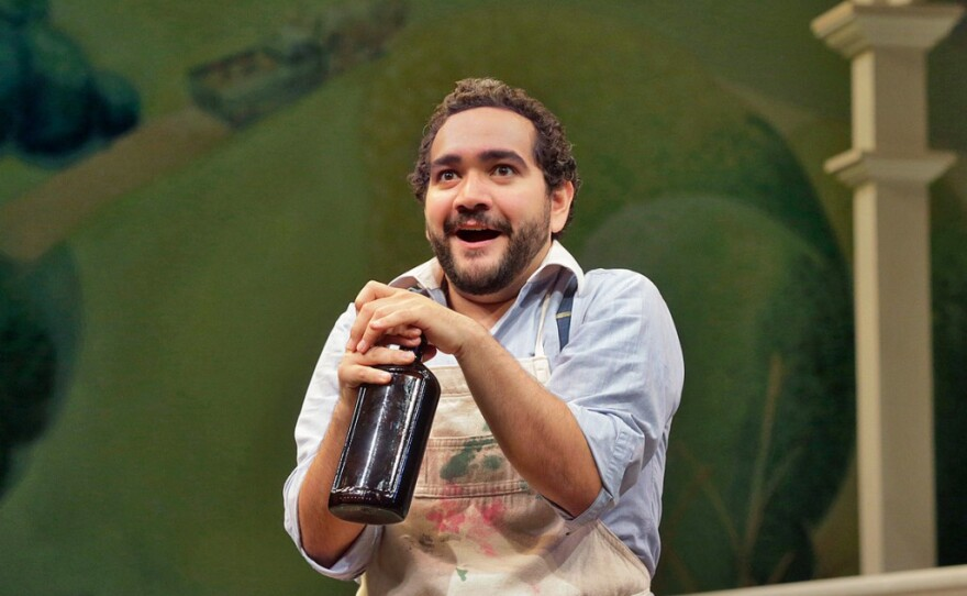 """Tenor Rene Barbera in """"L'elisir D'amore"""" at Opera Theatre St. Louis in 2014. He will be performing selections from that opera at his recital this Saturday at the Balboa Theater for San Diego Opera."""