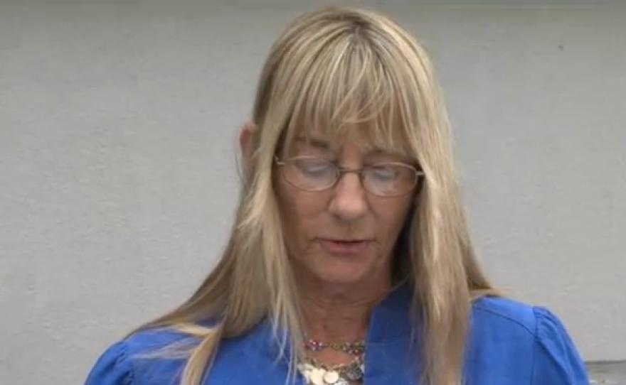 Former Councilwoman Donna Frye speaks at a press conference calling for Mayor Bob Filner's resignation, July 11, 2013.