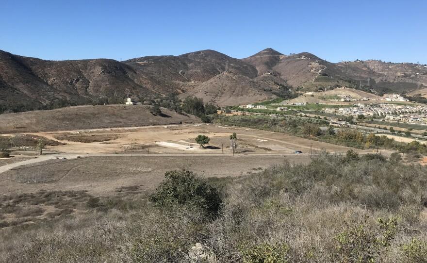 The housing development Harmony Grove is nestled at the base of hills near Escondido, Nov 14, 2018.