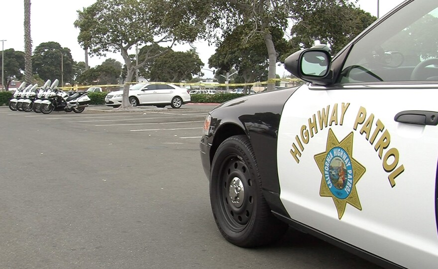 A California Highway Patrol car is pictured in this undated photo.