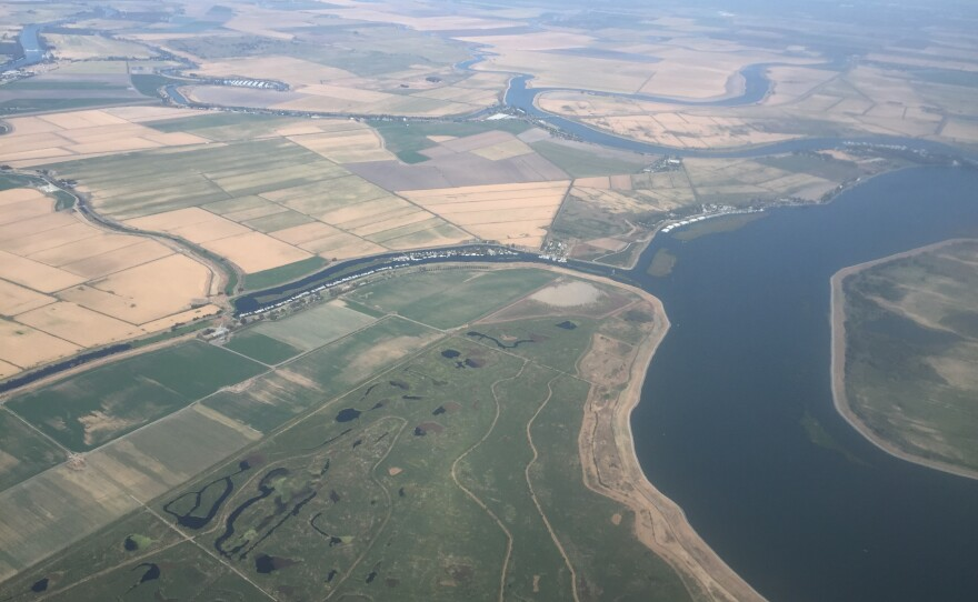 A view of the Sacramento delta from the air on Sept. 19, 2017