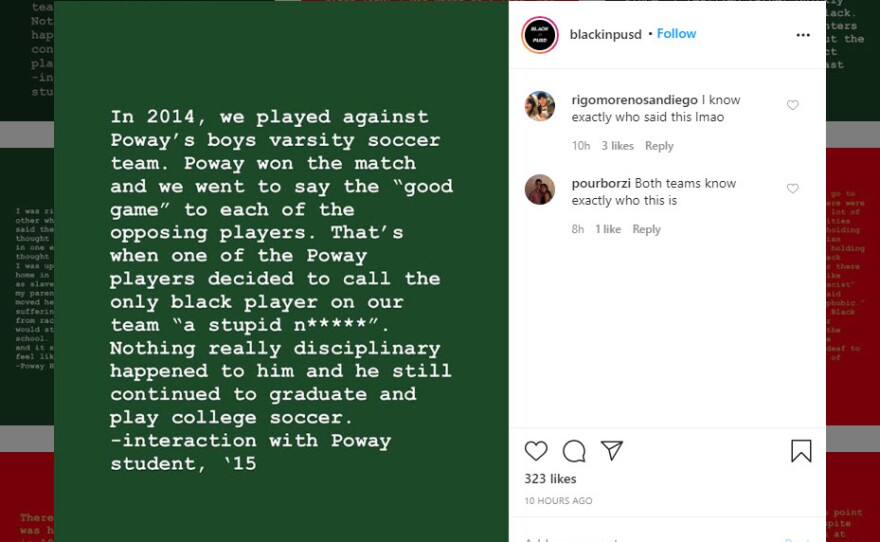 A post from BlackInPSUD on Instagram in this screengrab on June 25, 2020.