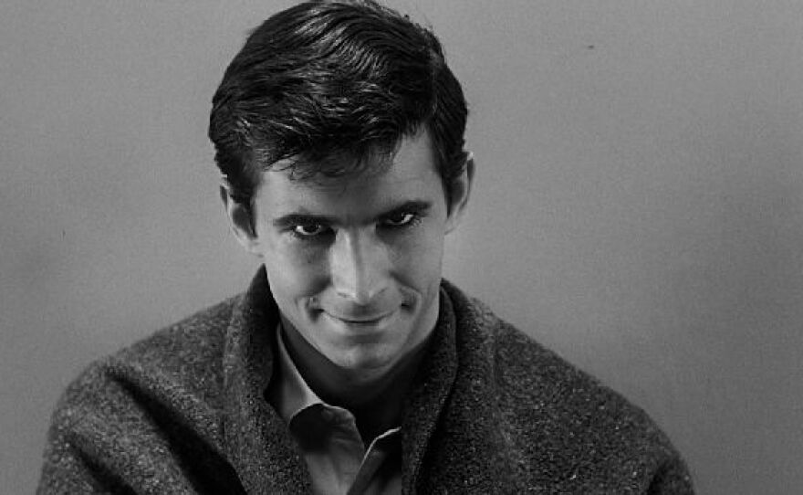 """Anthony Perkins stars as Norman Bates in Alfred Hitchcock's seminal film, """"Psycho"""" (1960)."""