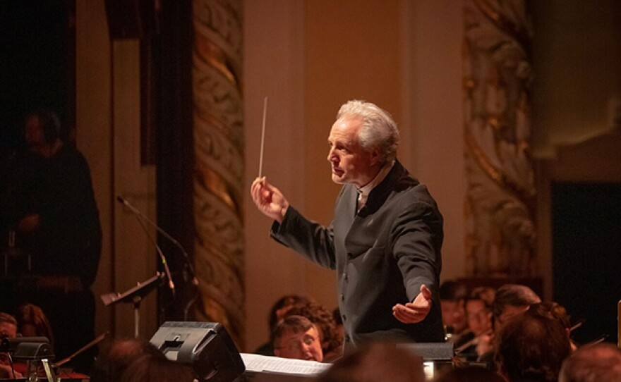 """Pittsburgh Symphony Orchestra Music Director Manfred Honeck conducts during """"Tree Of Life: A Concert For Peace And Unity,"""" which airs Tuesday, Dec. 11, 2018 on PBS stations nationwide."""