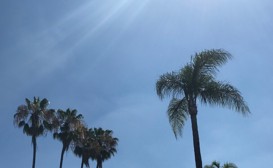 Sunny skies in San Diego County, July 18, 2020.