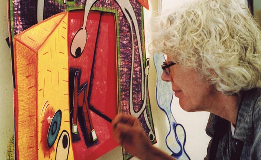 New York contemporary art maverick Elizabeth Murray painting.