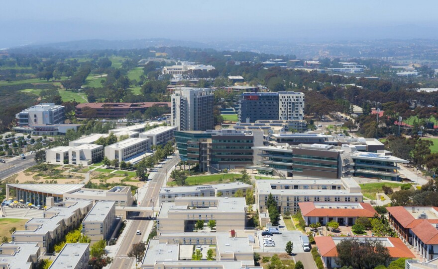 UC San Diego's campus is shown in this undated aerial photo.