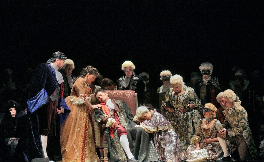 """The Act 3 Finale of San Diego Opera's """"A Masked Ball."""""""