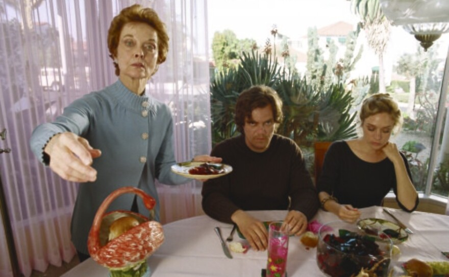 """Still life: Grace Zabriskie, Michael Shannon and Chloe Sevigny in """"My Son. My Son, What Have Ye Done"""""""