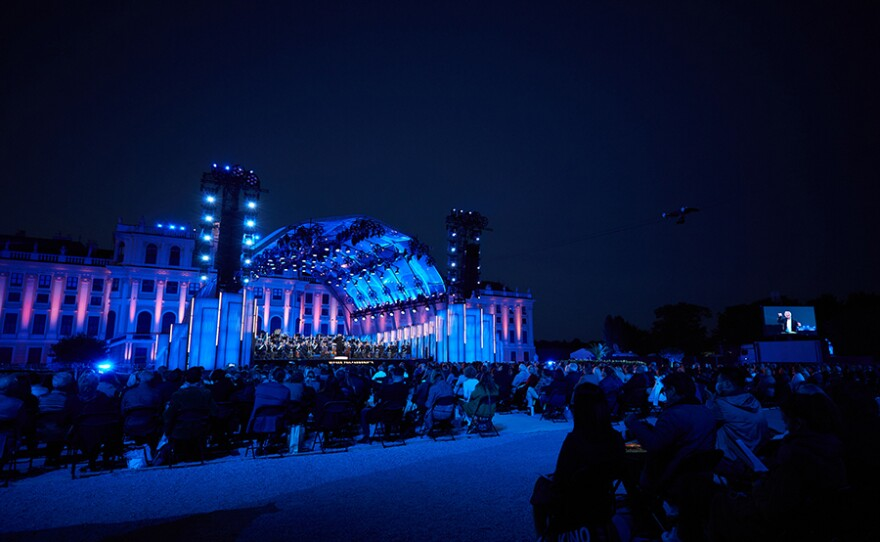 Enjoy the Vienna Philharmonic's annual summer night concert under the direction of a guest conductor at Austria's Schönbrunn Palace (pictured).