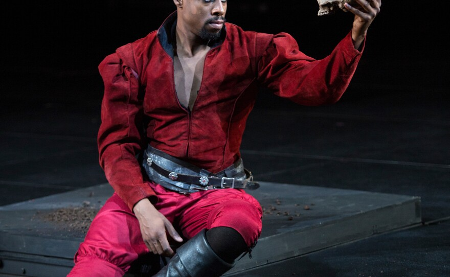 """Grantham Coleman takes on the title role in Barry Edelstein's production of """"Hamlet."""""""