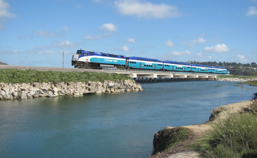 The new rail bridge that will start construction over the San Elijo lagoon is due to be completed in 2018