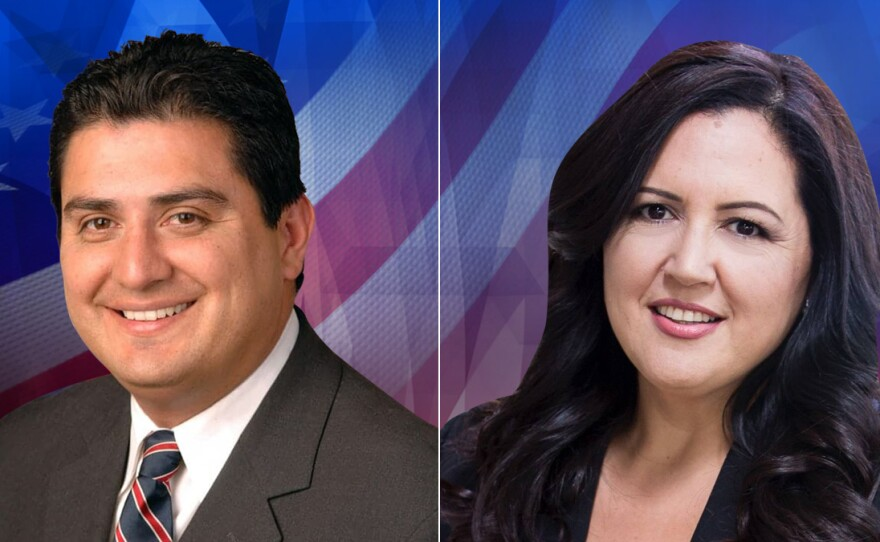 San Diego County board of supervisors candidates Ben Hueso (left) and Nora Vargas (right) in this undated photo