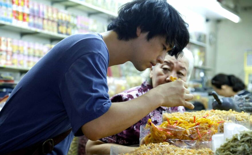 """Masato (Takumi Saitoh) tries to win over his formidable grandmother (Beatrice Chien) through food in Eric Khoo's """"Ramen Shop,"""" which closes the 19th Annual San Diego Asian Film Festival on Nov. 17."""