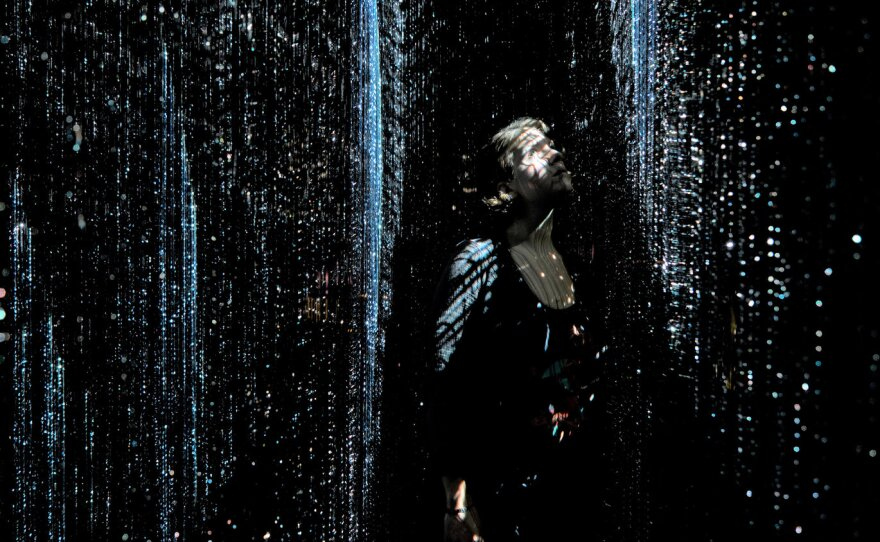 "A 2019 photo of Maja Petrić's art installation, ""We Are All Made of Light"""