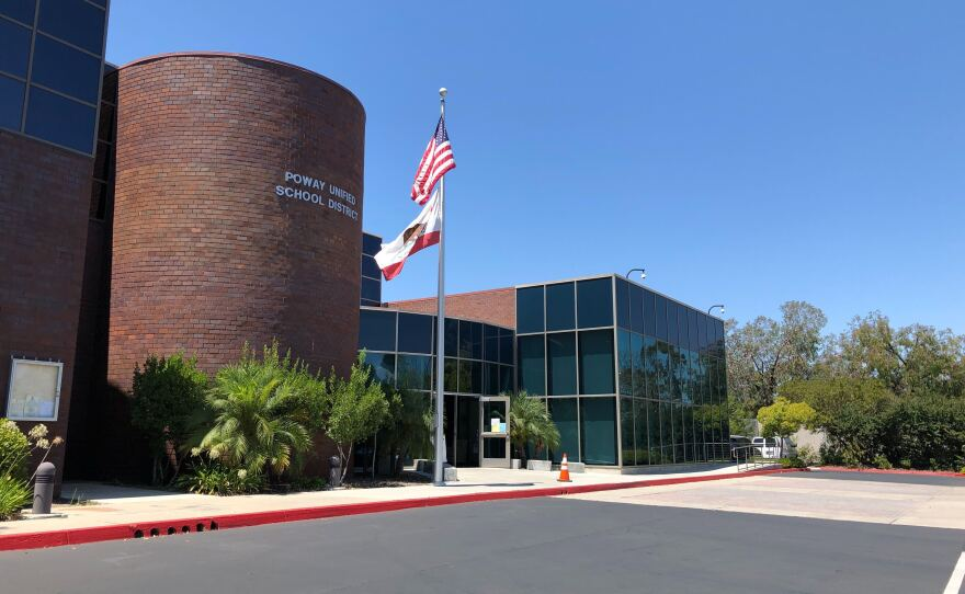 The Poway Unified School District's main office.