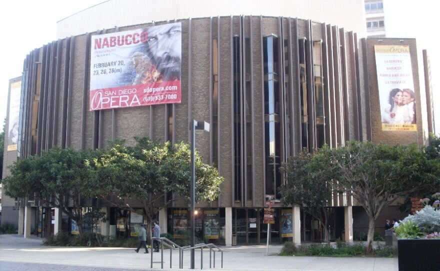 San Diego Opera performances take place at the San Diego Civic Theatre, seen here in January 2010.